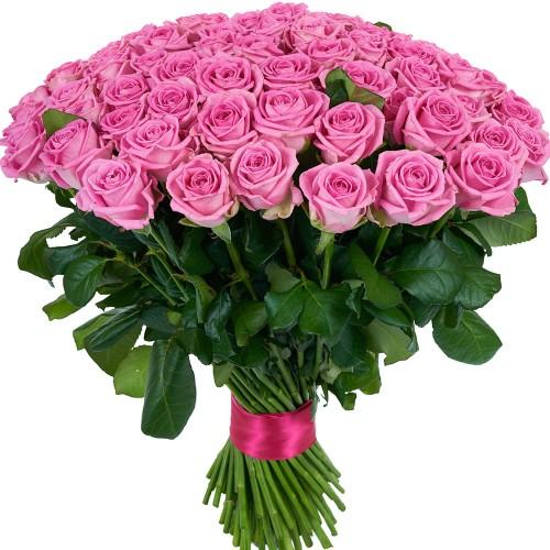 Купить на заказ Букет из 101 розовой розы с доставкой в Аягозе