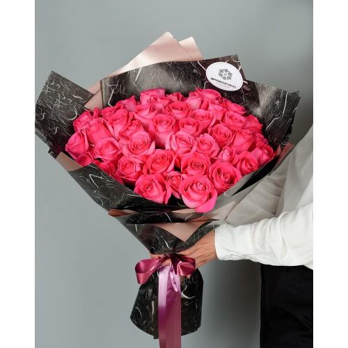 Купить на заказ Букет из 51 розовых роз с доставкой в Аягозе