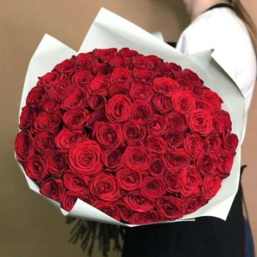 Купить на заказ Букет из 75 красных роз с доставкой в Аягозе