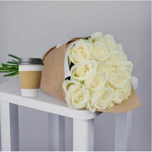 Купить на заказ Кофе с цветами с доставкой в Аягозе
